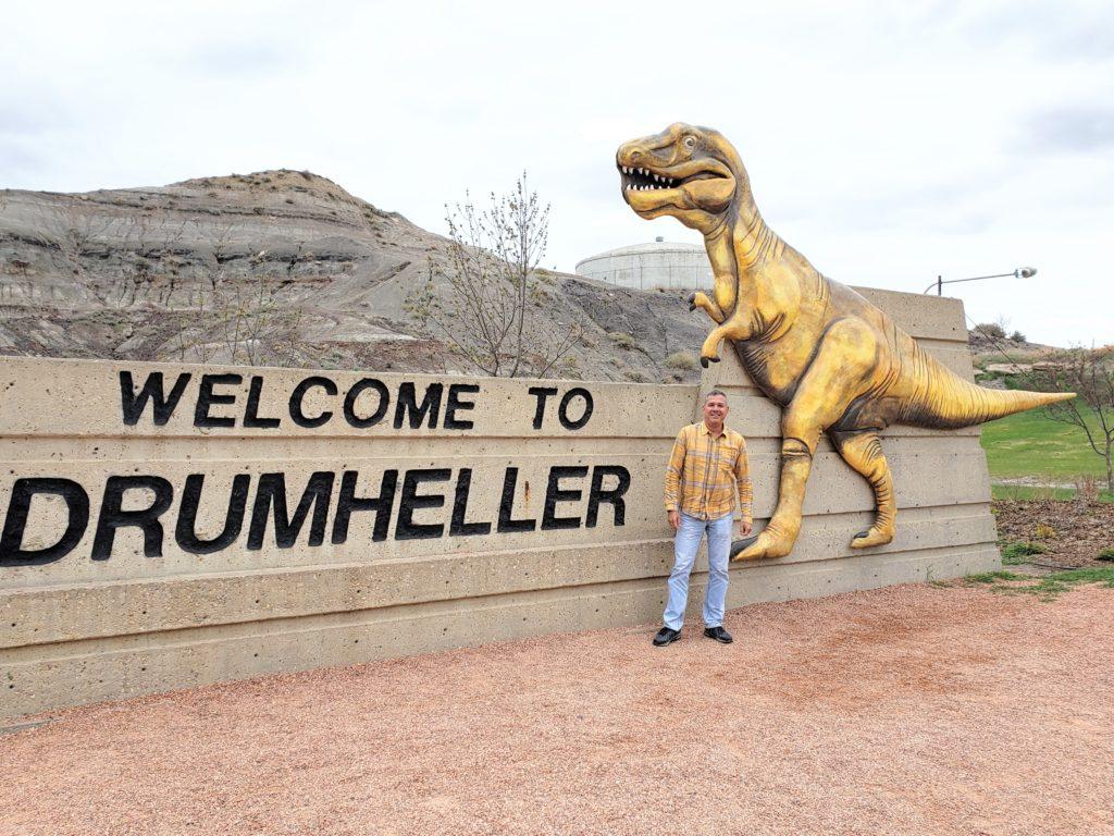entrada de Drumheller via al museo Tyrrell