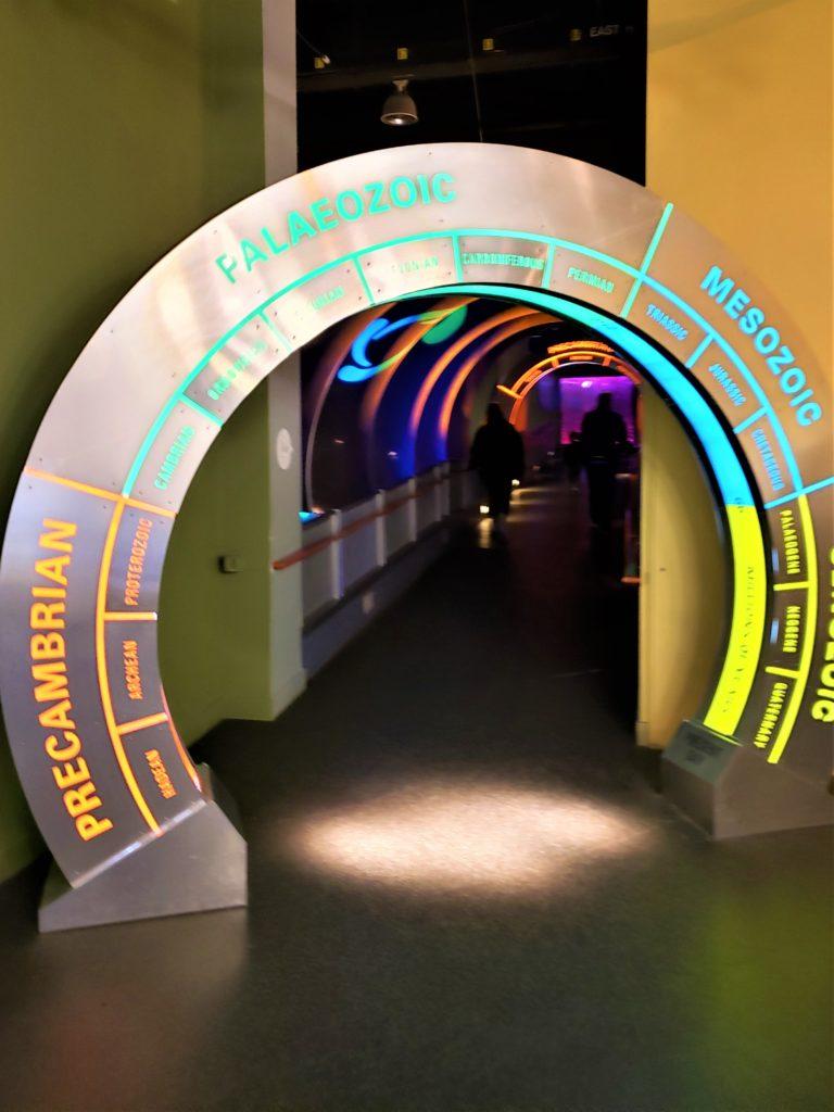 Eras geológicas representadas en el museo Tyrrell