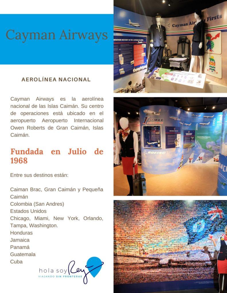 Exposición de Cayman Airways la linea area nacional de las Islas Caimán