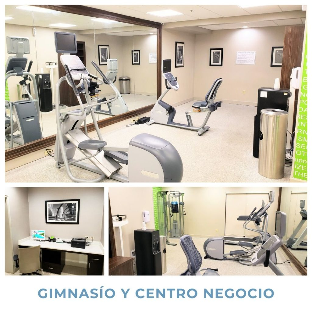 Gimnasio en La Quinta Inn & Suite by Wyndham Pets friendly hotels in Georgia | hoteles que aceptan mascotas en Georgia